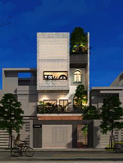 Đất méo mó vẫn xây được nhà phố 4 tầng đẹp như mơ - Ảnh 1