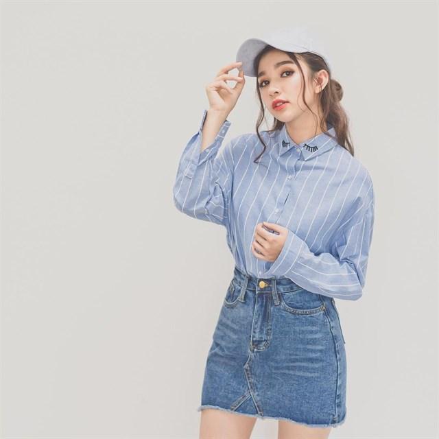 Phối đồ với chân váy jean: Vừa cá tính vừa cổ điển lại cực kỳ năng động - Ảnh 11