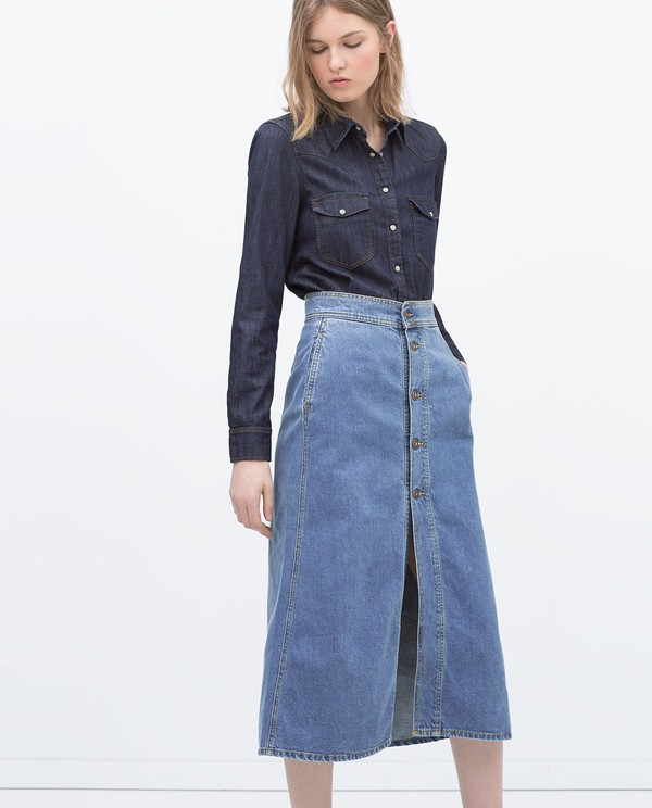 Phối đồ với chân váy jean: Vừa cá tính vừa cổ điển lại cực kỳ năng động - Ảnh 5