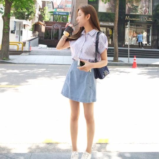 Phối đồ với chân váy jean: Vừa cá tính vừa cổ điển lại cực kỳ năng động - Ảnh 8