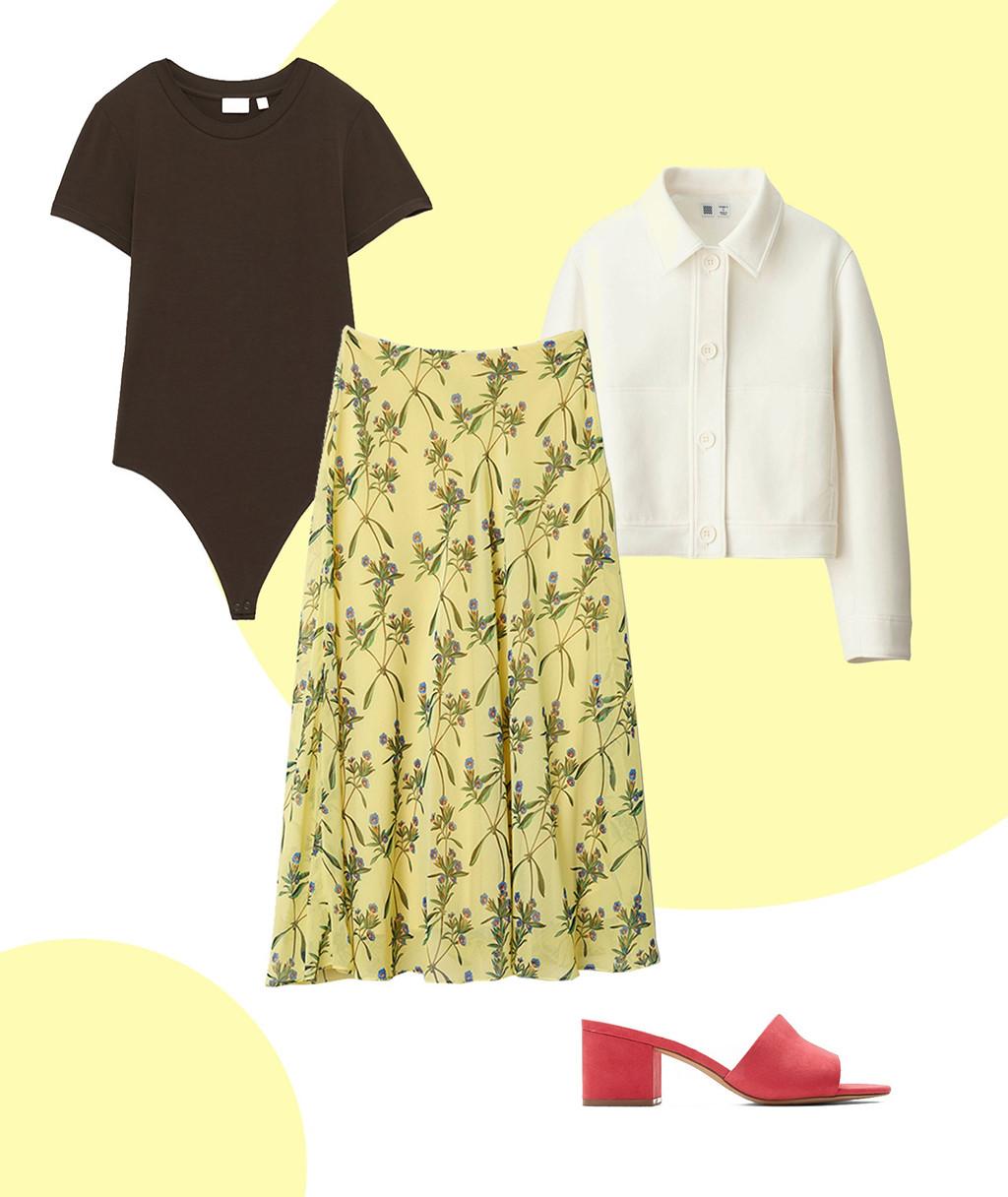 1 chiếc váy hoa dài qua gối - 8 cách phối đồ cực điệu đà, nữ tính giúp nàng đùi to che khuyết điểm - Ảnh 4
