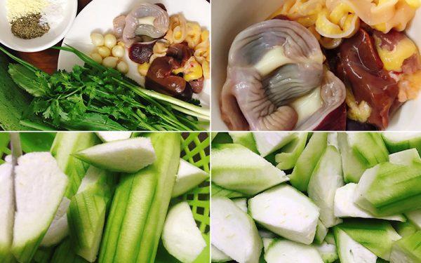 Cách làm món lòng gà xào mướp hương vừa ngon lại vừa bổ dưỡng - Ảnh 1