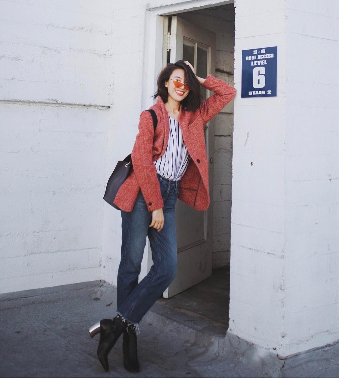 Áo blazer không hề một màu, nhàm chán bởi có ít nhất 5 biến tấu để các nàng thỏa sức làm điệu trong mùa lạnh năm nay - Ảnh 4