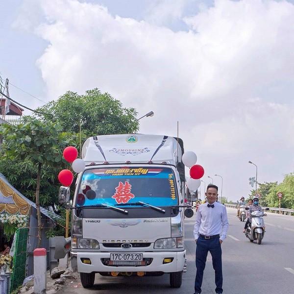 Chú rể Thái Bình mang 'siêu xe' chở lợn đi đón dâu khiến họ nhà gái cười ra nước mắt  - Ảnh 1