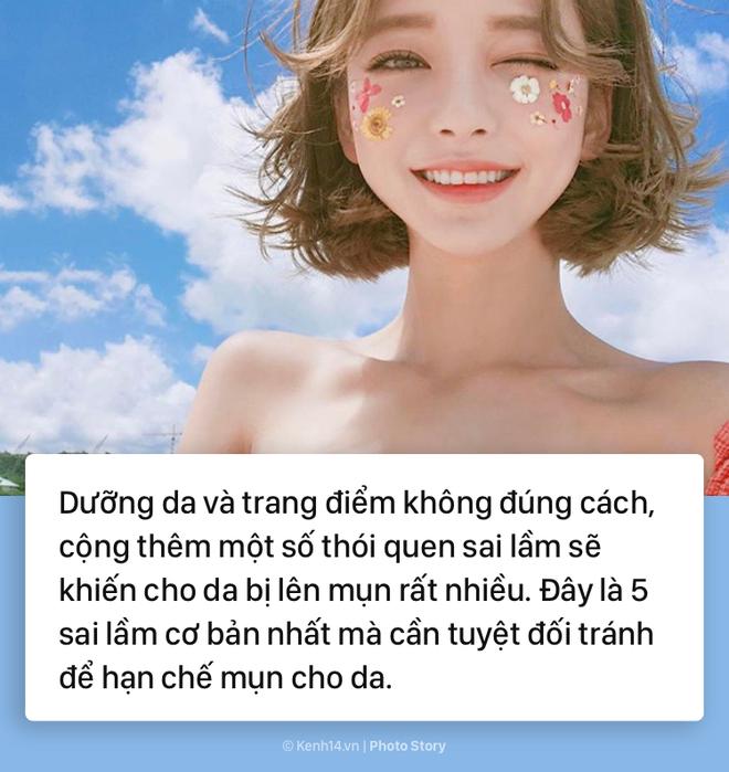 Tránh ngay những sai lầm sau nếu bạn không muốn da mặt mình chi chít mụn - Ảnh 1