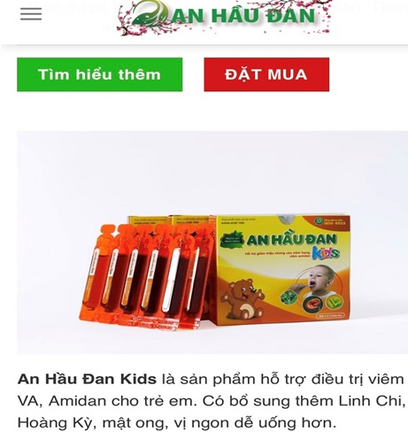 Quảng cáo An Hầu Đan Kids và An Hầu Đan có dấu hiệu lừa người tiêu dùng - Ảnh 2