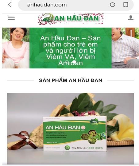 Quảng cáo An Hầu Đan Kids và An Hầu Đan có dấu hiệu lừa người tiêu dùng - Ảnh 3
