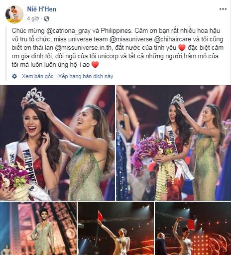 H'Hen Niê giơ cao cờ tổ quốc, chia sẻ xúc động khi lọt Top 5 Miss Universe 2018 - Ảnh 1