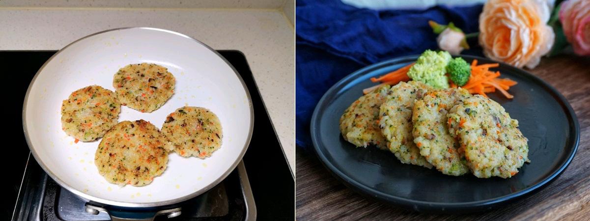 Tận dụng cơm nguội, tôi làm cơm viên rau củ mang đi làm ăn trưa hôm sau vừa tiện vừa ngon - Ảnh 4