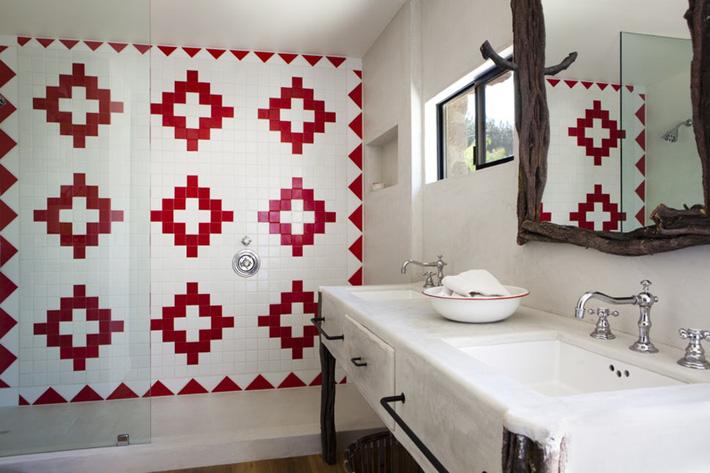 Phòng tắm gia đình sinh động thêm mấy phần nhờ lựa chọn loại gạch ốp này - Ảnh 16