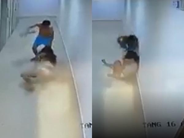 Clip cô gái bị gã đàn ông lôi đầu, đánh tới tấp ngoài hành lang chung cư khiến nhiều người bức xúc: 'Đánh vậy chịu sao nổi trời ơi trời' - Ảnh 1