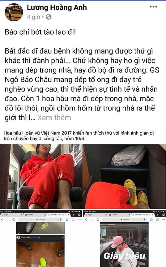 Chỉ trích H'Hen Niê 'quê mùa lôm côm' vì đi dép tổ ong, vợ cũ Huy Khánh bị chửi tối tăm mặt mày - Ảnh 1