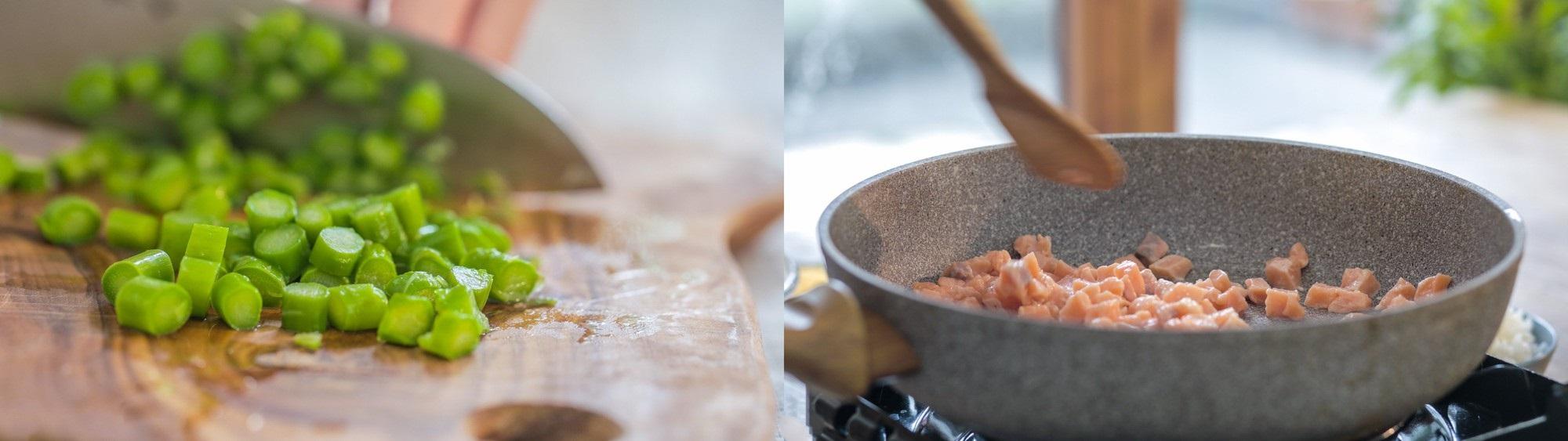 Thứ 2 bận rộn, tôi làm chảo cơm chiên cá hồi cho cả nhà là ngon lành đủ chất - Ảnh 2