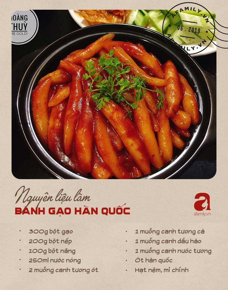 Đổi món với công thức bánh gạo Hàn Quốc dẻo thơm đậm vị của mẹ 9X xinh như Hot Girl - Ảnh 2