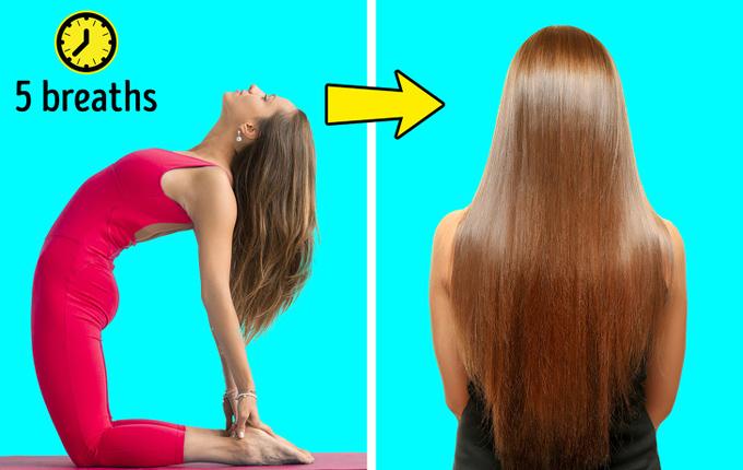 8 tư thế yoga vừa đẹp dáng vừa cải thiện mái tóc gãy rụng - Ảnh 1