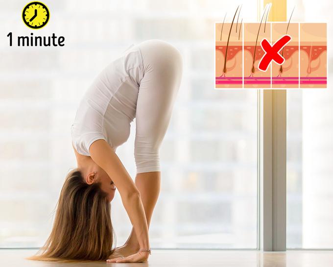 8 tư thế yoga vừa đẹp dáng vừa cải thiện mái tóc gãy rụng - Ảnh 6