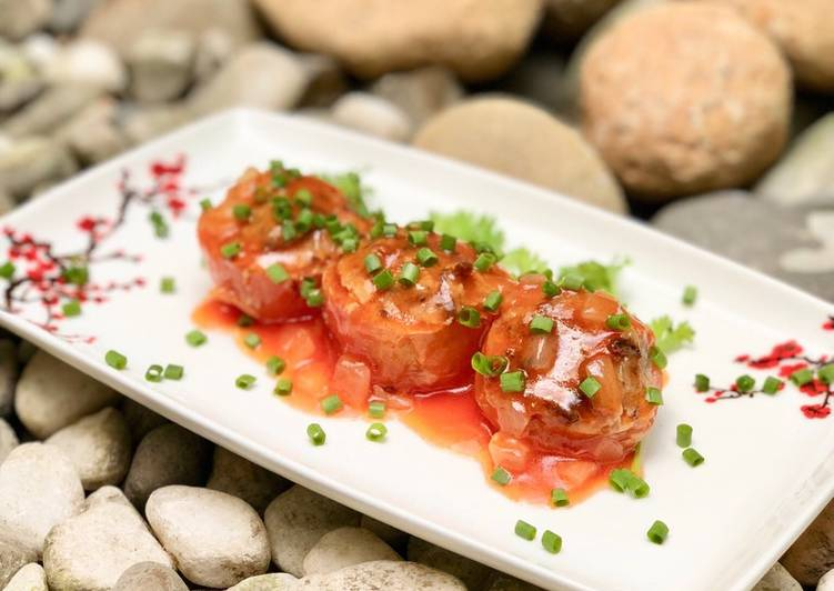 Cà chua nhồi đậu hũ chay: Món ăn không thể thiếu ngày rằm mồng 1 - Ảnh 4