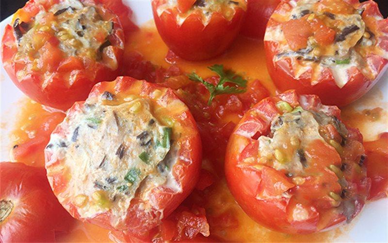Cà chua nhồi đậu hũ chay: Món ăn không thể thiếu ngày rằm mồng 1 - Ảnh 1