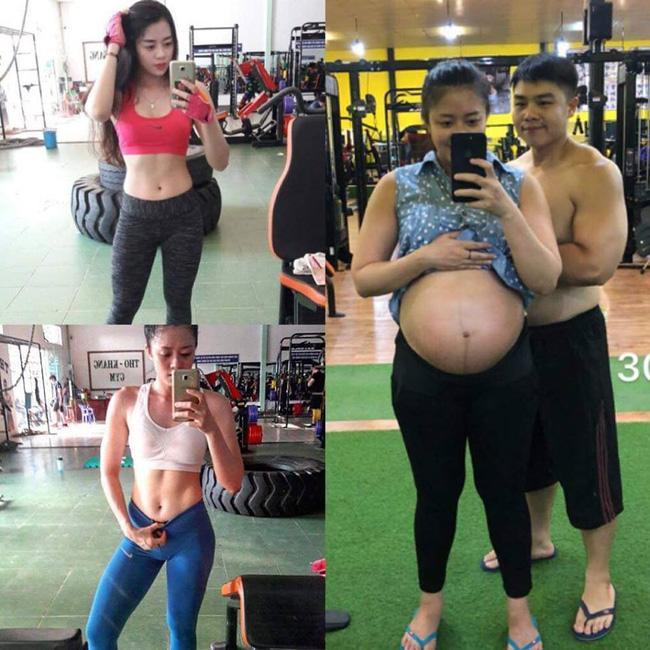 Lên bàn đẻ nặng gần 90kg, mẹ trẻ khoe ảnh thời con gái và sau sinh khiến các mẹ 'tiếc đứt ruột' - Ảnh 2