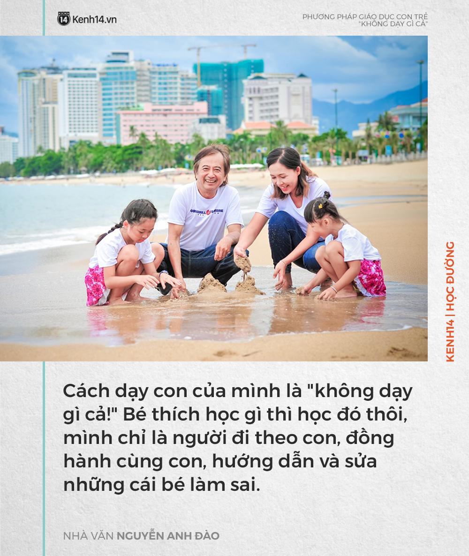 Phương pháp dạy con 'không dạy gì cả' của nhà văn Nguyễn Anh Đào nhưng kết quả lại khiến nhiều người bất ngờ - Ảnh 1