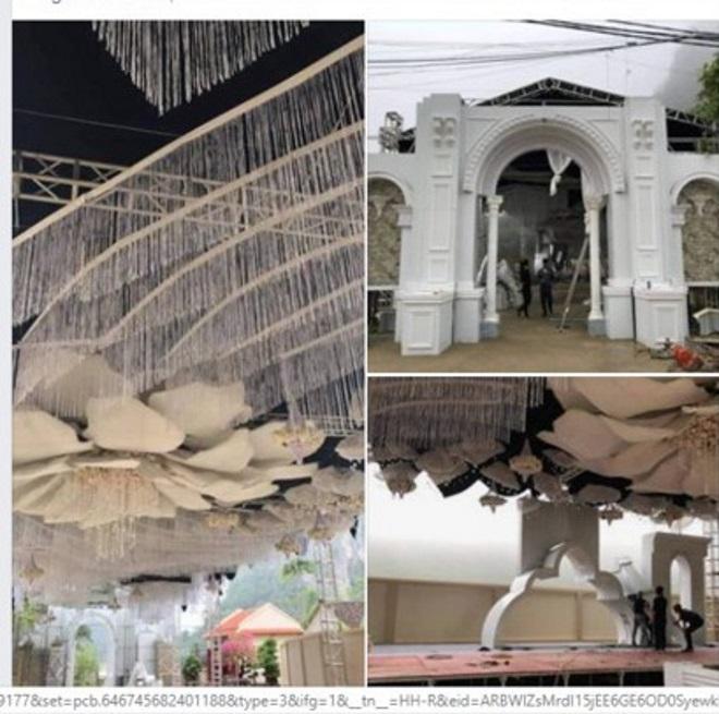 Choáng với rạp cưới xa hoa trị giá 2,5 tỷ, dùng toàn hoa tươi chở bằng máy bay từ Đà Lạt - Ảnh 1