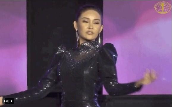 Đi loạng choạng, biểu cảm khó hiểu, Ngân Anh tiếp tục 'trắng tay' tại Miss Intercontinental 2018 - Ảnh 1