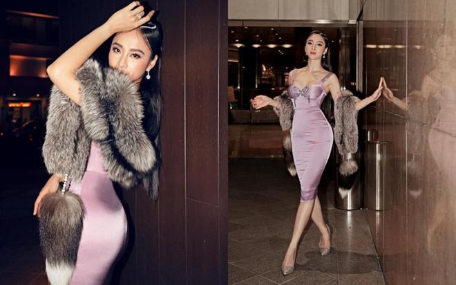 Angela Phương Trinh mặc gợi cảm, khoác áo lông thú gây tranh cãi - Ảnh 1