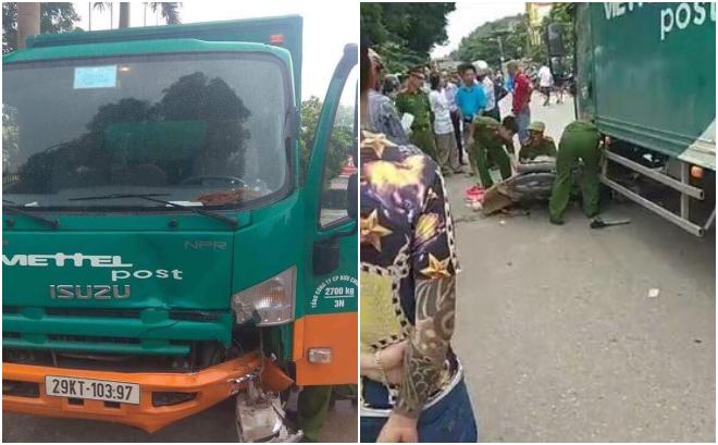 Bắc Giang: Va chạm với xe tải chạy cùng chiều, mẹ và con gái 2 tuổi tử vong thương tâm - Ảnh 1