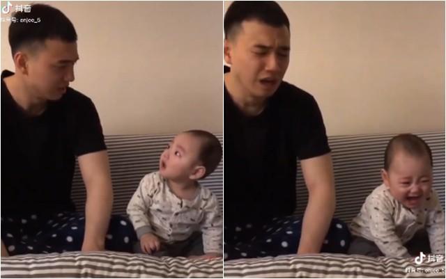 Con trai bất ngờ khóc ré lên, ông bố trẻ dỗ theo cách chẳng giống ai khiến dân mạng cười nghiêng ngả - Ảnh 2