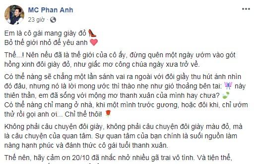 MC Phan Anh khoe quà xinh tặng vợ, nhắc khéo 'nhiều gã trai vô tình' về ngày 20/10 - Ảnh 2