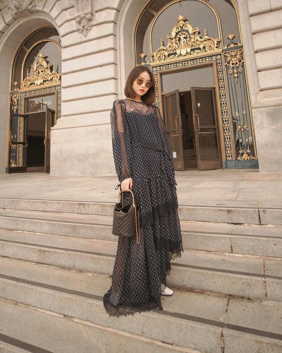 Bỗng thấy không kiểu váy nào vượt qua được váy dáng dài về độ sang chảnh, yêu kiều và hợp rơ với tiết trời se lạnh - Ảnh 13