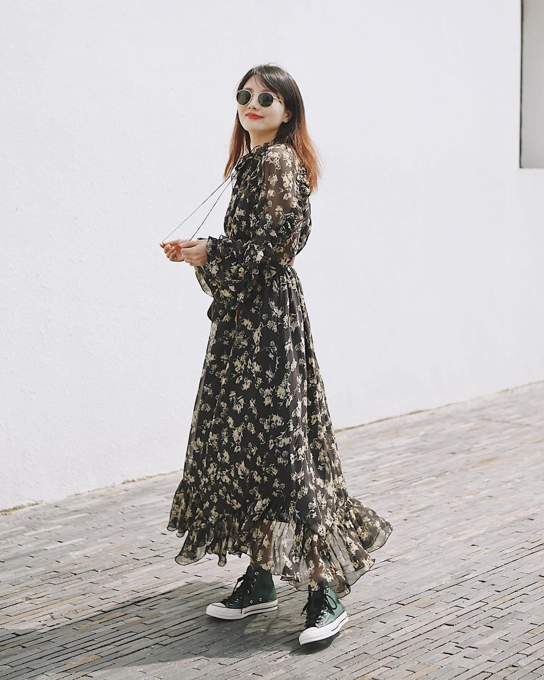 Bỗng thấy không kiểu váy nào vượt qua được váy dáng dài về độ sang chảnh, yêu kiều và hợp rơ với tiết trời se lạnh - Ảnh 5