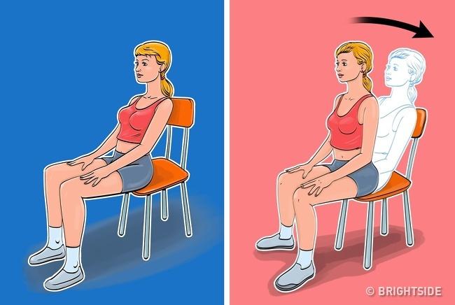 5 bài tập giảm cân, thon gọn vòng eo chỉ cần ngồi trên ghế cực kỳ phù hợp với phụ nữ văn phòng - Ảnh 1