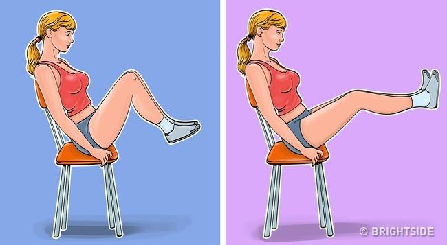 5 bài tập giảm cân, thon gọn vòng eo chỉ cần ngồi trên ghế cực kỳ phù hợp với phụ nữ văn phòng - Ảnh 5