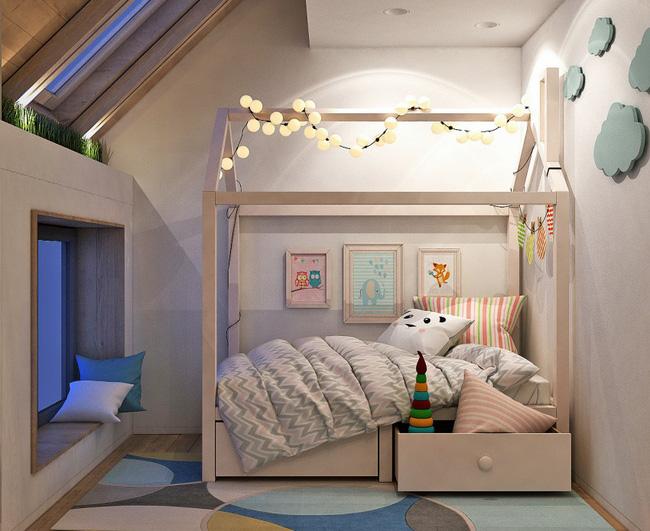 Căn hộ nhỏ này được nhiều người thích thú nhờ kết hợp không gian sống với nơi vui chơi cho con - Ảnh 7