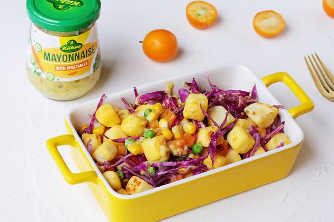 Bữa tối chỉ cần một đĩa salad thế này vừa ngon miệng lại giúp giảm cân - Ảnh 1