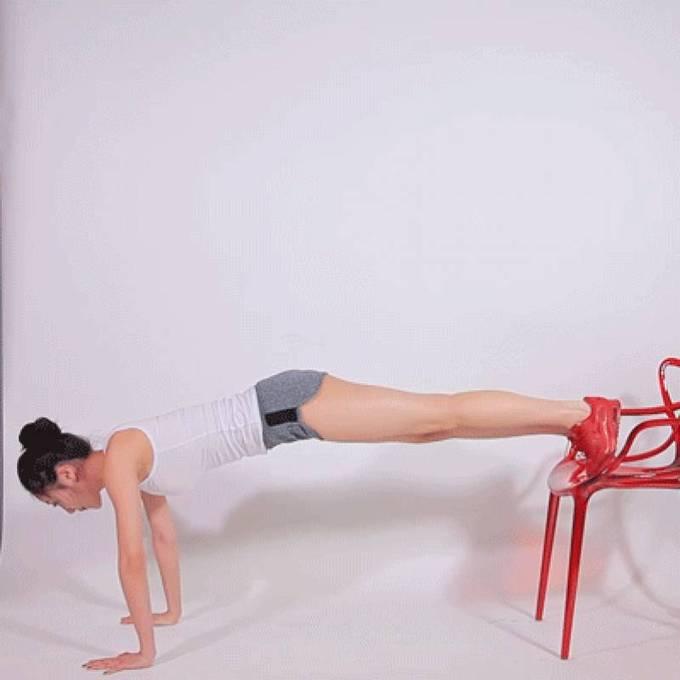 8 động tác với ghế cho đôi chân thon gọn - Ảnh 1