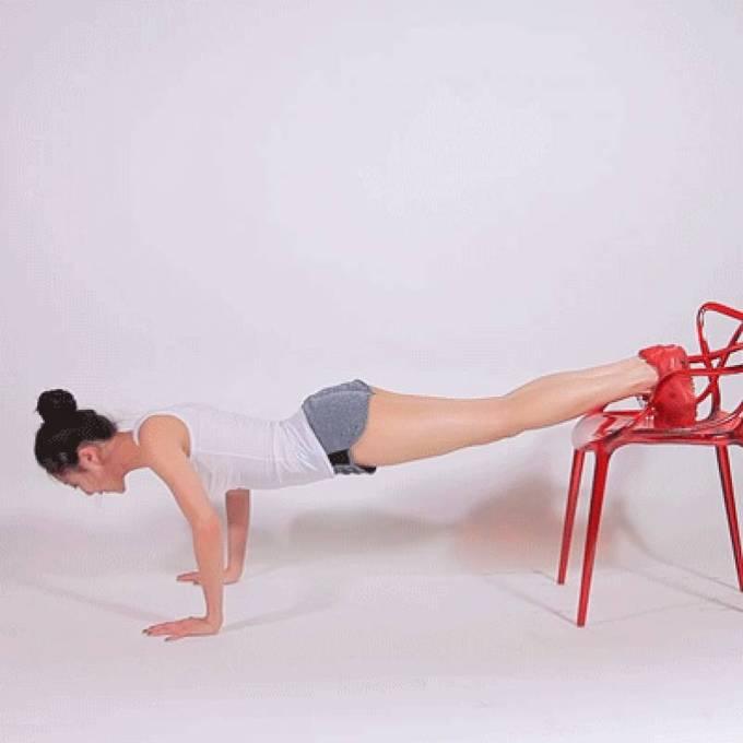 8 động tác với ghế cho đôi chân thon gọn - Ảnh 4