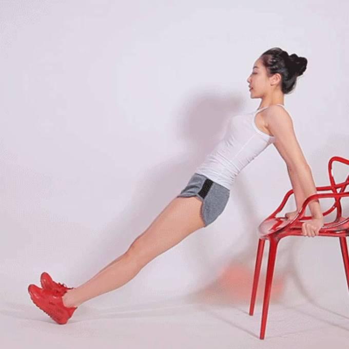 8 động tác với ghế cho đôi chân thon gọn - Ảnh 6