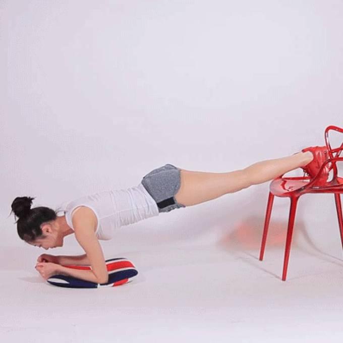 8 động tác với ghế cho đôi chân thon gọn - Ảnh 8