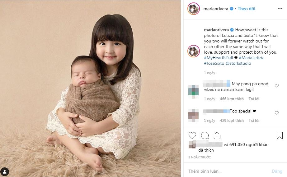 Tan chảy trước khoảnh khắc siêu đáng yêu của 2 thiên thần nhỏ nhà 'mỹ nhân đẹp nhất Philippines' Marian Rivera - Ảnh 2