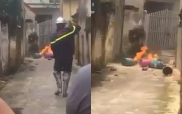 Hà Nội: Con rể mang 4 bình gas đến nhà bố vợ rồi châm lửa đốt - Ảnh 1