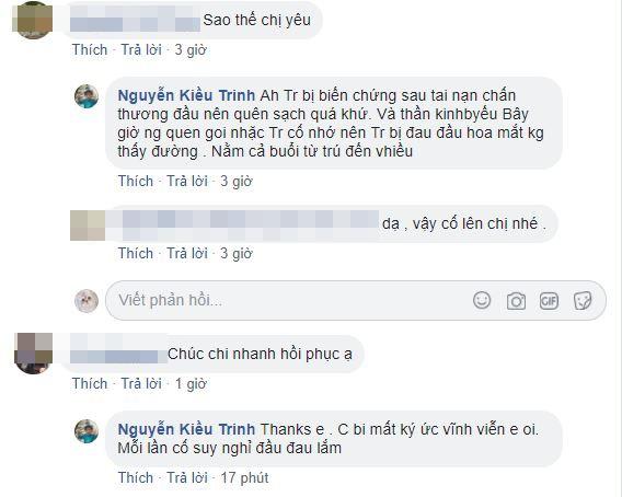 Diễn viên Kiều Trinh bị di chứng sau tai nạn, quên sạch quá khứ khiến fan lo lắng - Ảnh 5