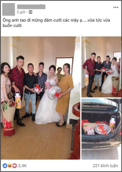 Cô dâu chấm nước mắt 'bất lực' khi nhìn thấy quà cưới trong cốp xe Mercedes sang trọng khiến dân mạng cười ngất - Ảnh 1