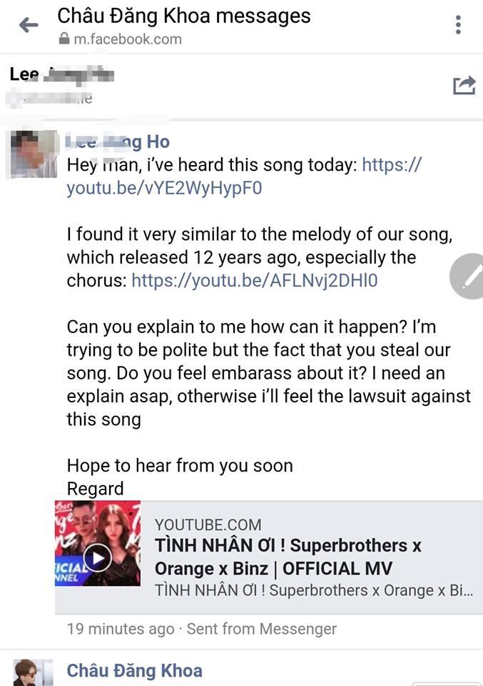 Bị nhạc sĩ Hàn Quốc tố đạo nhạc, Châu Đăng Khoa lớn tiếng đáp trả - Ảnh 1