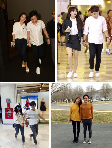 4 cô vợ chân dài của Vbiz luôn khéo thể hiện điều giản dị này để tránh dìm chiều cao của chồng - Ảnh 9
