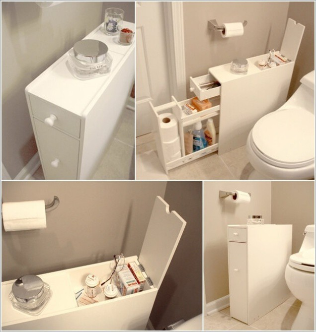 7 ý tưởng lưu trữ ẩn trong phòng tắm bạn không thể không biết để sở hữu phòng tắm rộng hơn diện tích thật - Ảnh 1