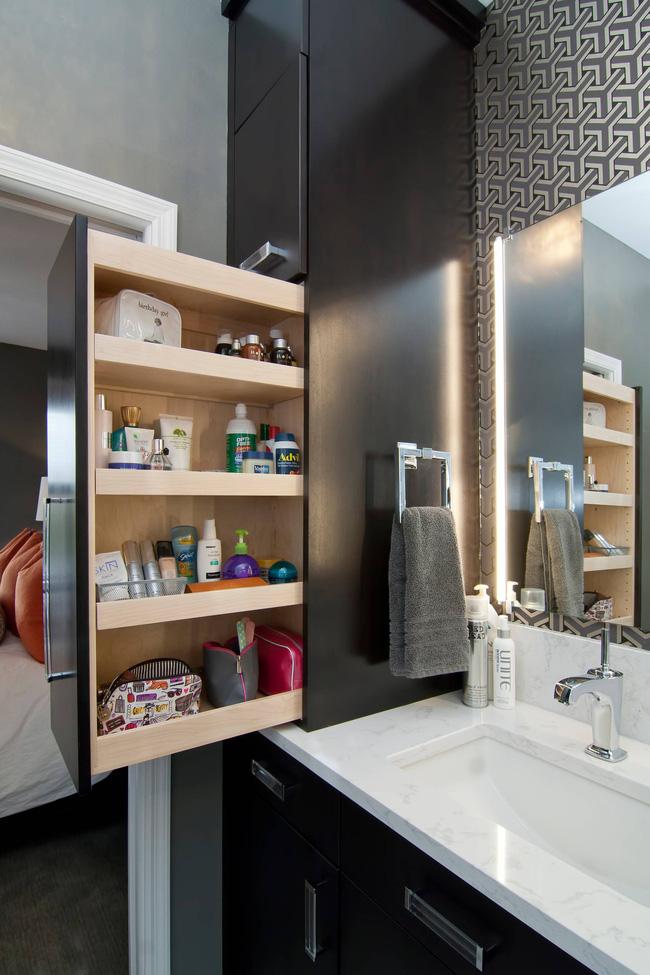7 ý tưởng lưu trữ ẩn trong phòng tắm bạn không thể không biết để sở hữu phòng tắm rộng hơn diện tích thật - Ảnh 4