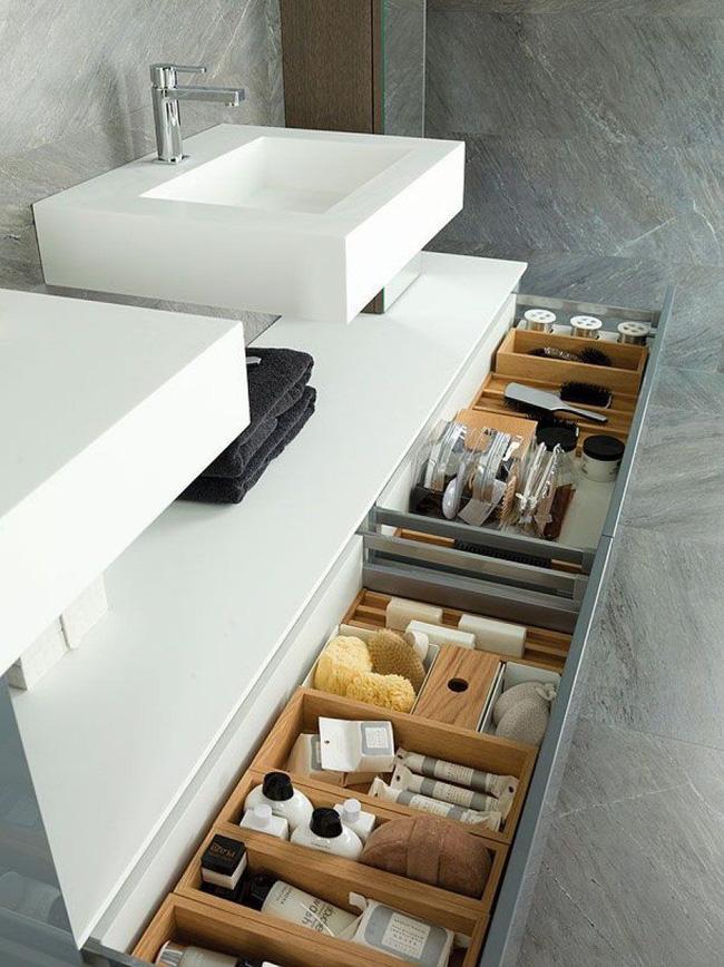 7 ý tưởng lưu trữ ẩn trong phòng tắm bạn không thể không biết để sở hữu phòng tắm rộng hơn diện tích thật - Ảnh 6