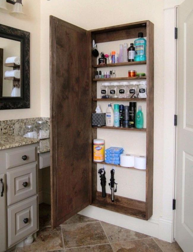 7 ý tưởng lưu trữ ẩn trong phòng tắm bạn không thể không biết để sở hữu phòng tắm rộng hơn diện tích thật - Ảnh 7